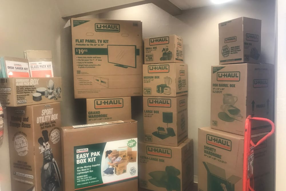 Moving boxes at AAA Platte Self Storage in Colorado Springs, CO