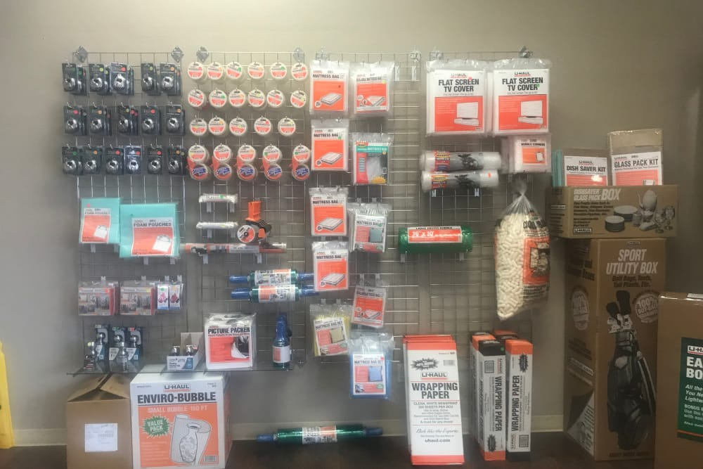 Moving and packing supplies at AAA Platte Self Storage in Colorado Springs, CO