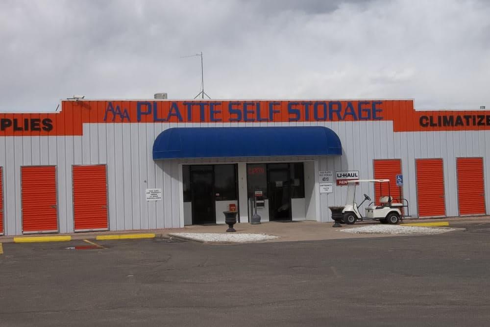 Front office of AAA Platte Self Storage in Colorado Springs, CO