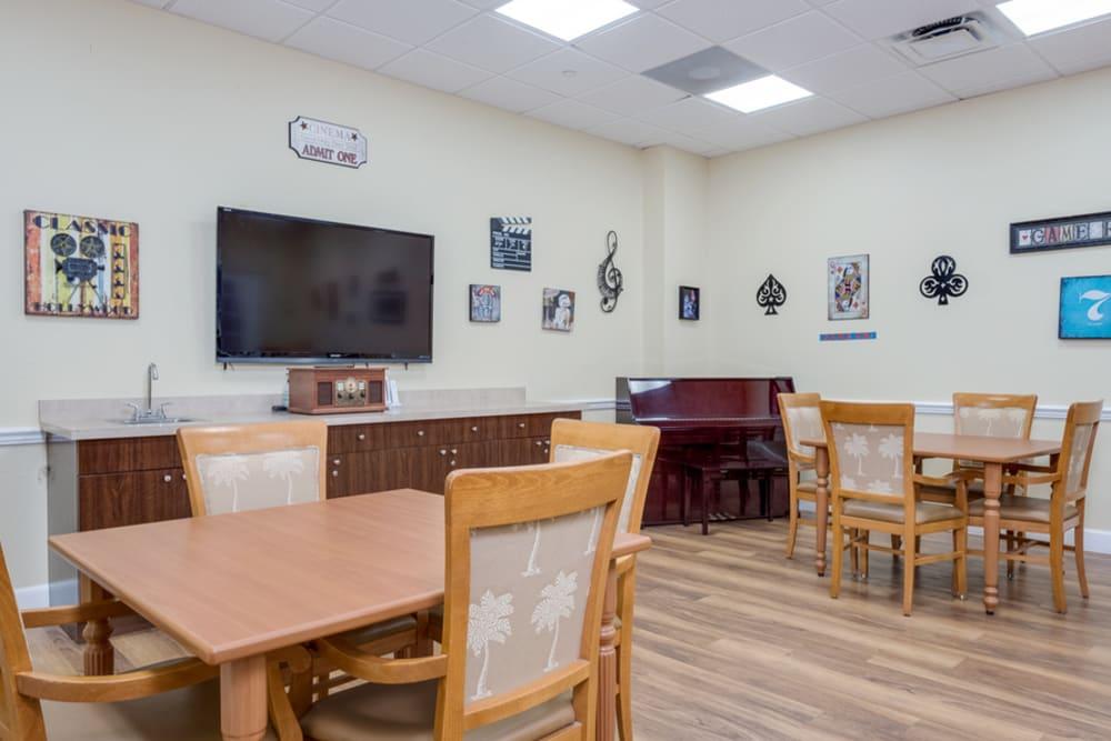TV room at Grand Villa of Boynton Beach in Florida