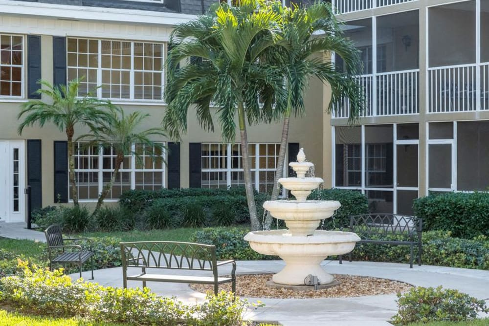 Water feature at Grand Villa of Delray West in Florida