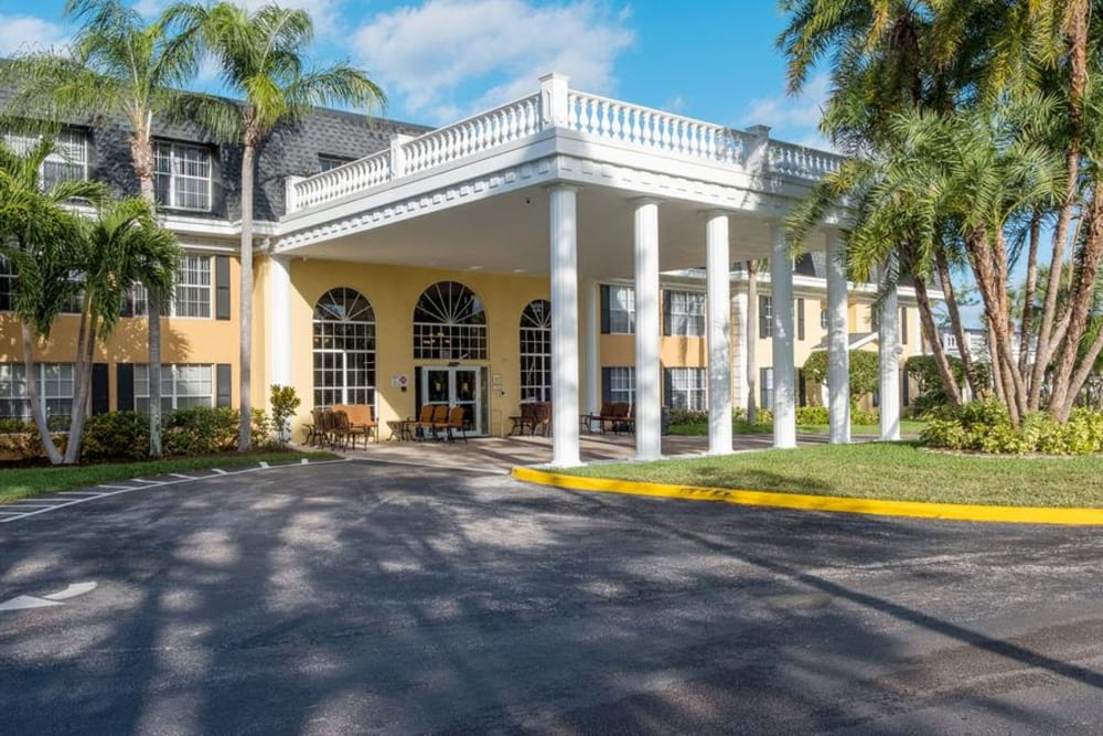 Main entrance at Grand Villa of Delray West in Florida