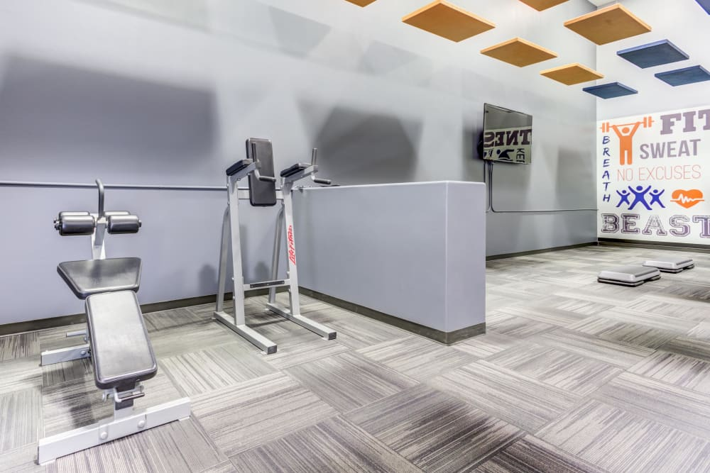 Newly renovated fitness center fully equipped