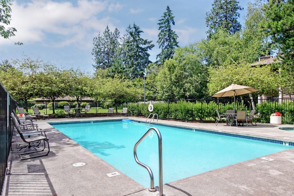 Community pool at Jasper Square Apartment Homes in Beaverton, OR