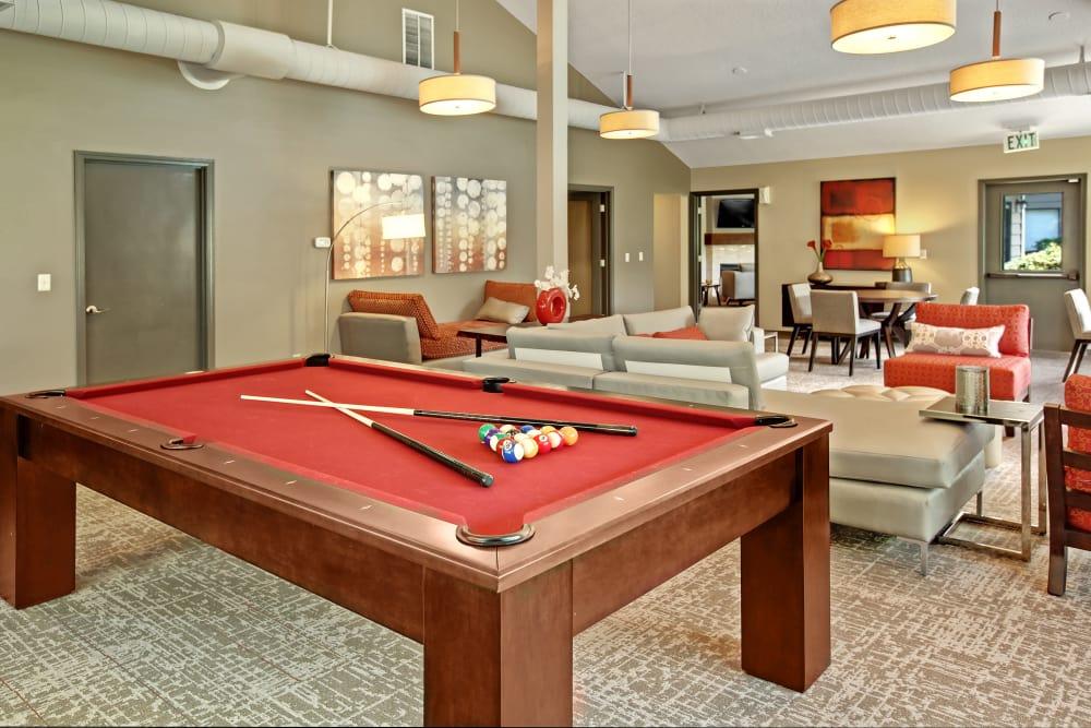 Billiard table at Jasper Square Apartment Homes in Beaverton, OR