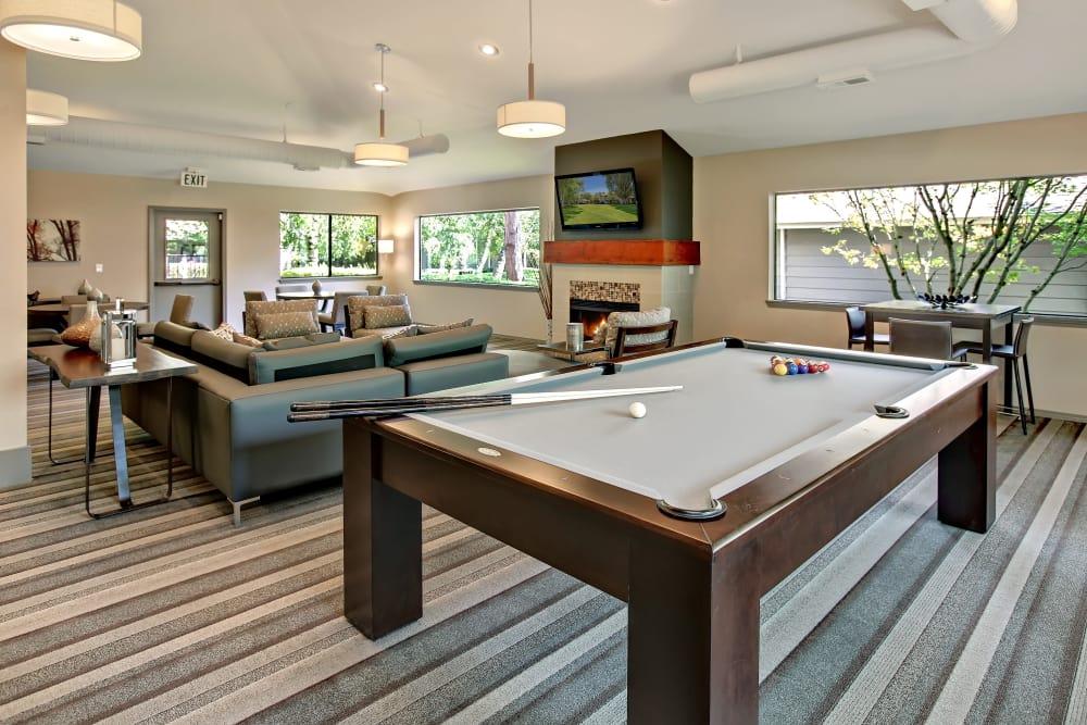 Billiard table at Jasper Place in Beaverton, OR