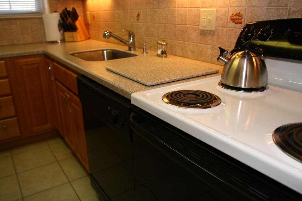Nice stainless-steel kitchen appliances at Cloverdale Associates