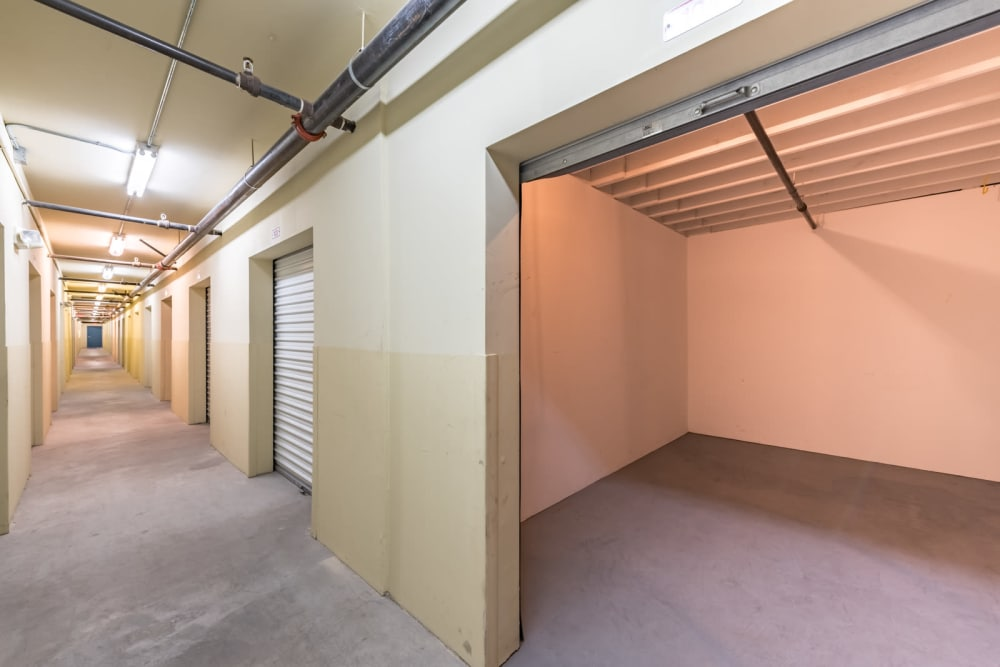 Inside a unit at our storage facility on Rainbow Blvd