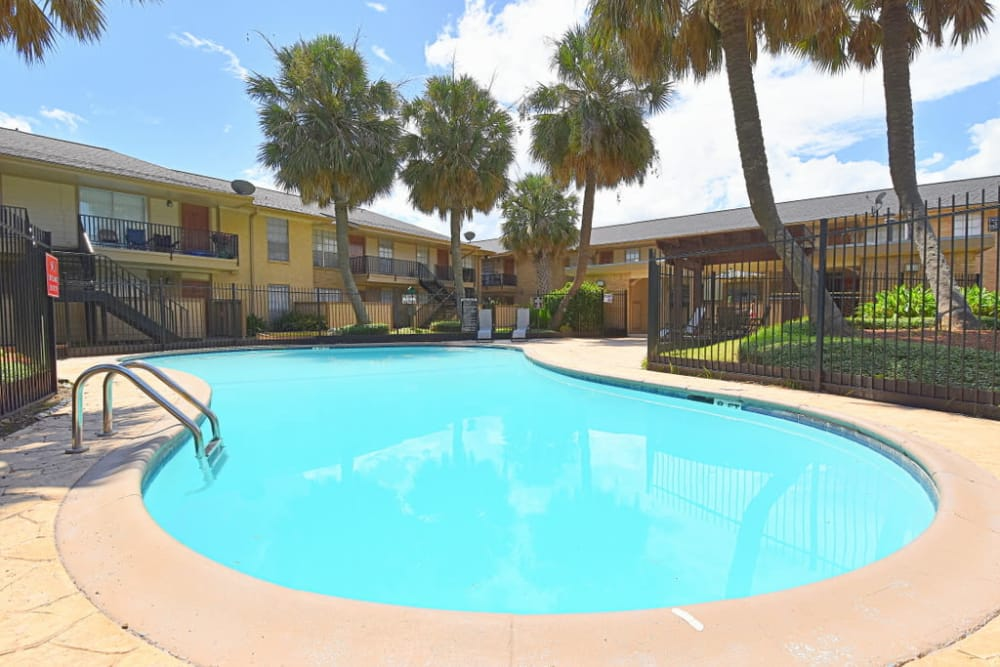 Our apartments in Houston, Texas showcase a spacious swimming pool