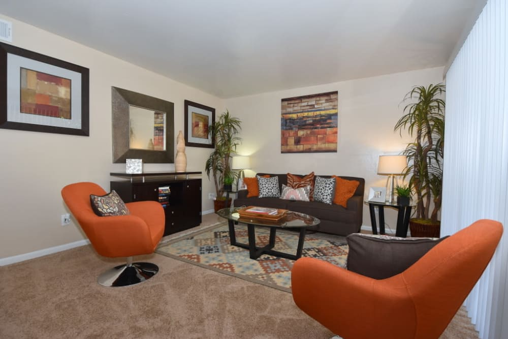 Our apartments in Houston, Texas have a living room that's great for entertaining