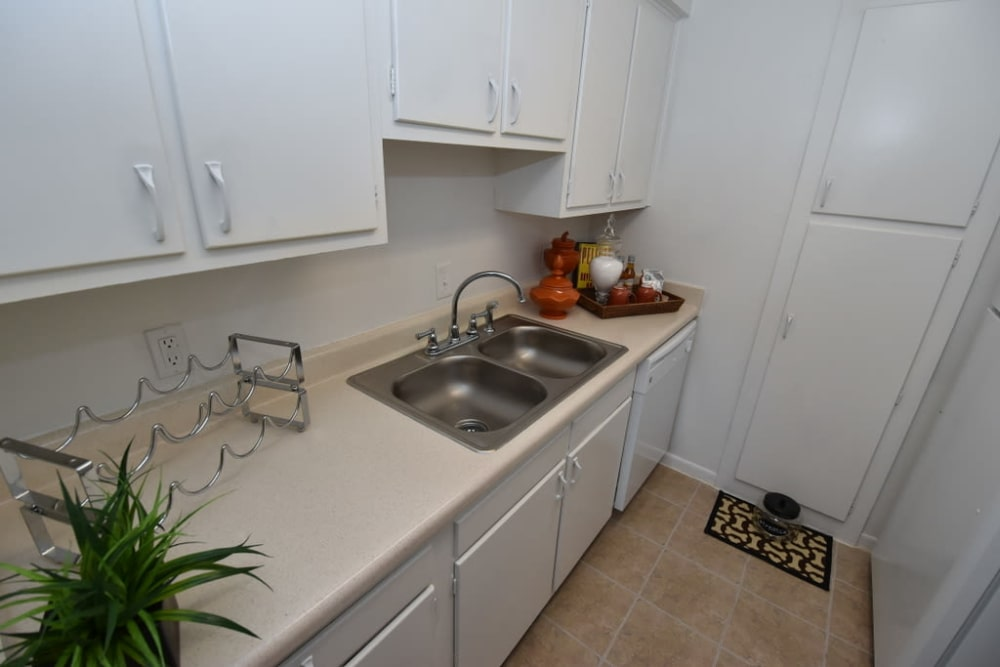 Enjoy apartments with a kitchen at Palms at Chimney Rock Apartments in Houston, TX