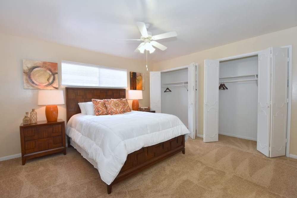 Our apartments in Houston, Texas showcase a beautiful bedroom