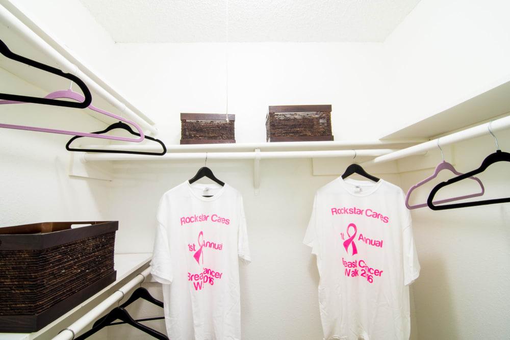 Our apartments in Rosenberg, Texas showcase spacious walk-in closets