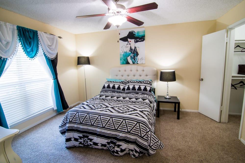 Spacious bedroom at Westwood Village Apartments in Rosenberg, Texas