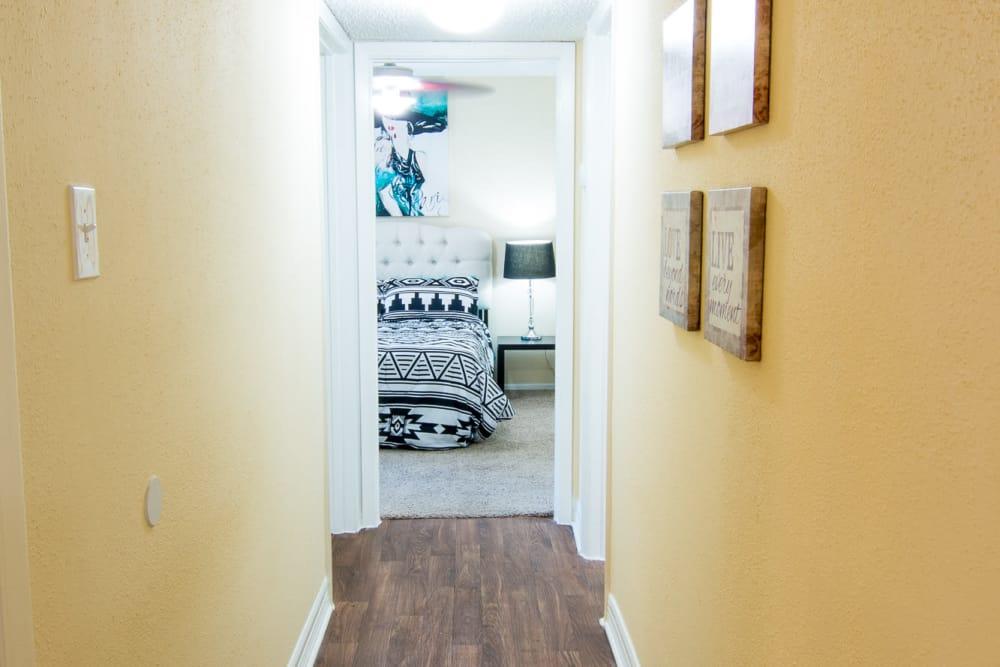 Westwood Village Apartments bedroom in Rosenberg, TX