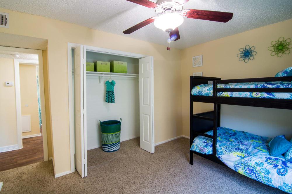Large bedroom at Westwood Village Apartments in Rosenberg, TX