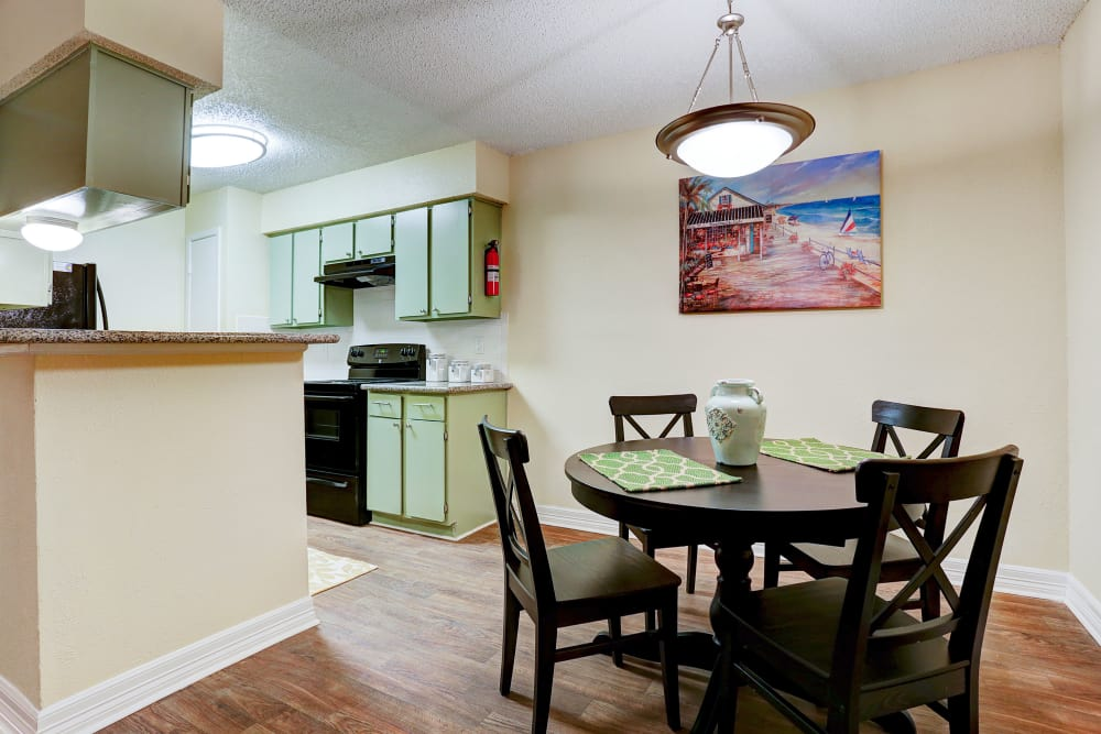 Enjoy apartments with a dining room at Westwood Village Apartments in Rosenberg, TX