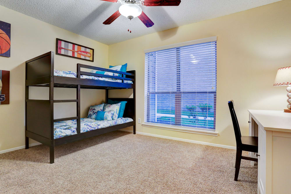 Our apartments in Rosenberg, Texas showcase a spacious bedroom