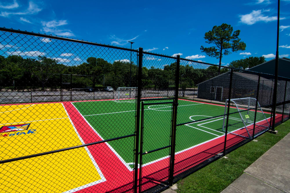 Modern sport courts at apartments in Rosenberg, Texas
