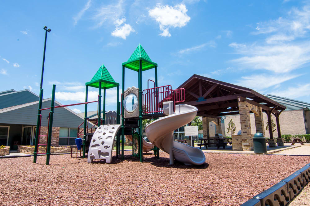 Spacious playground at apartments in Rosenberg, Texas