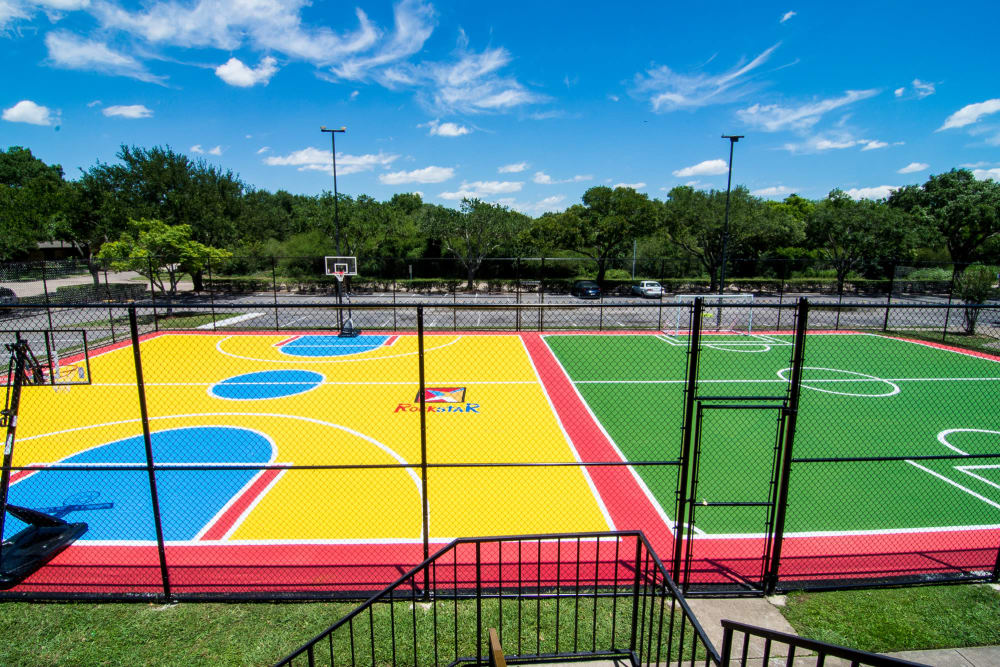 Our apartments in Rosenberg, Texas have sport courts that are great for entertaining