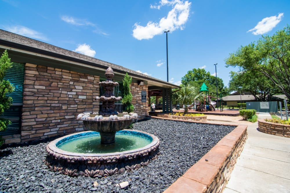 Westwood Village Apartments fountain in Rosenberg, Texas