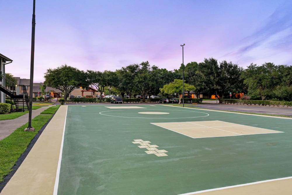 Multisports court at Westwood Village Apartments in Rosenberg, TX
