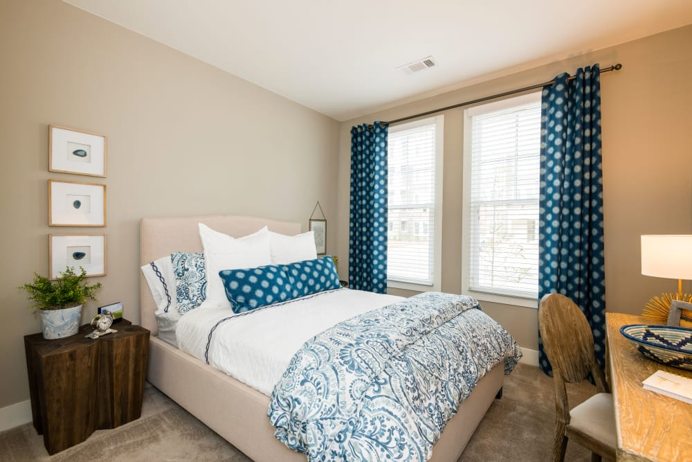 Bright bedroom at The Heyward in Charleston, South Carolina