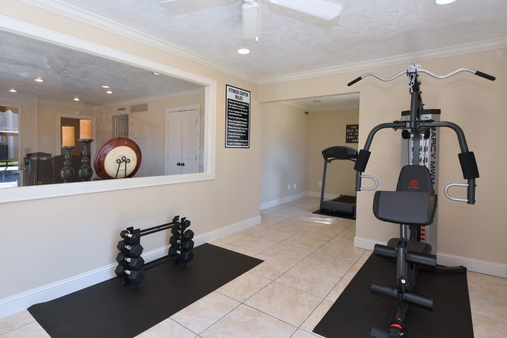 Our apartments in Humble, Texas showcase a newly updated fitness center