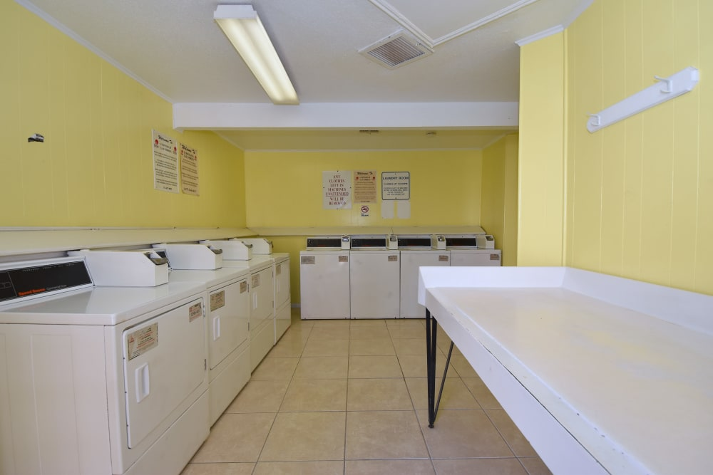 Unique laundry facility at Waterchase Apartments in Humble, Texas