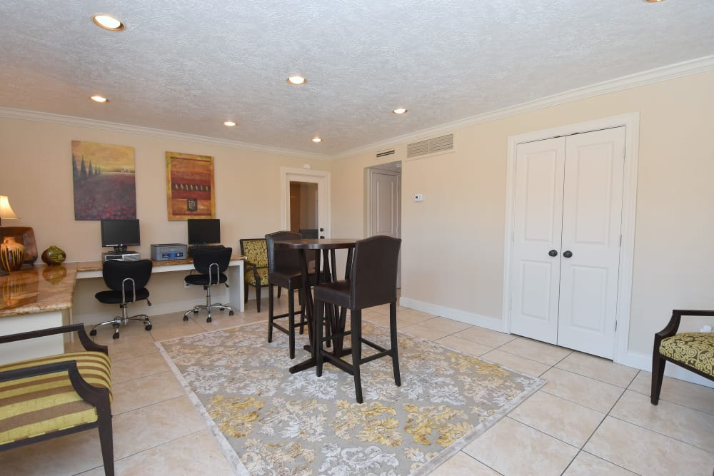 Spacious office at Waterchase Apartments in Humble, Texas