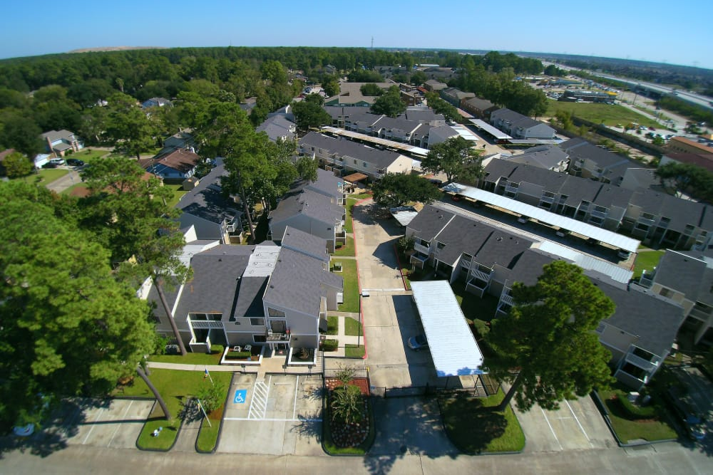 Waterchase Apartments aerial view in Humble, TX