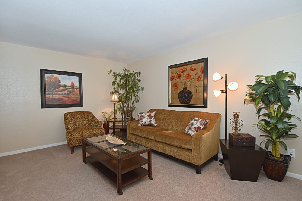 Living room at Waterchase Apartments