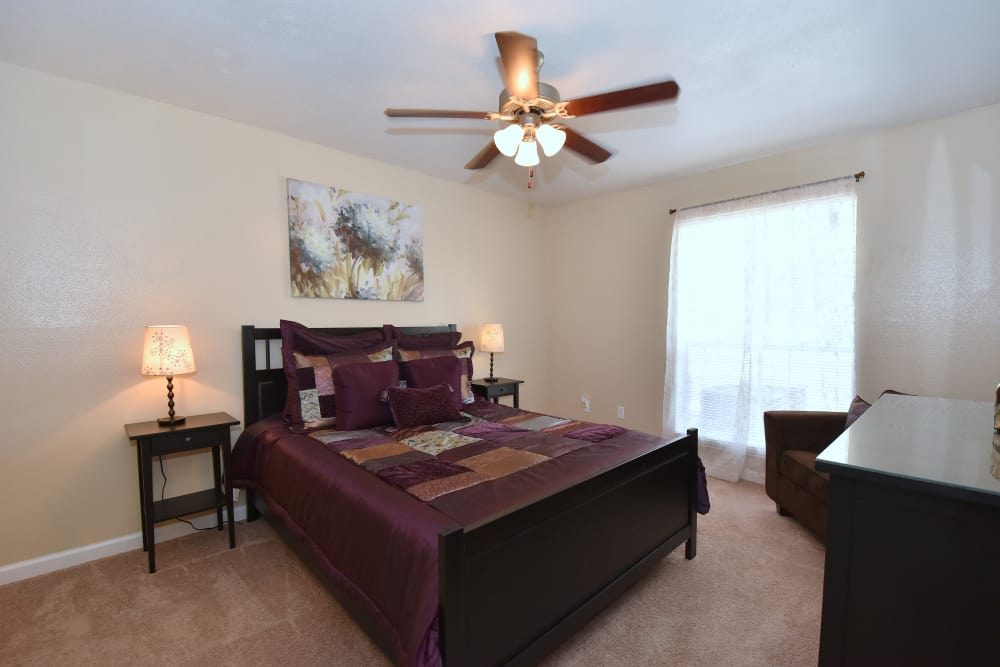 Spacious bedroom at Park at Deerbrook Apartments in Humble, Texas