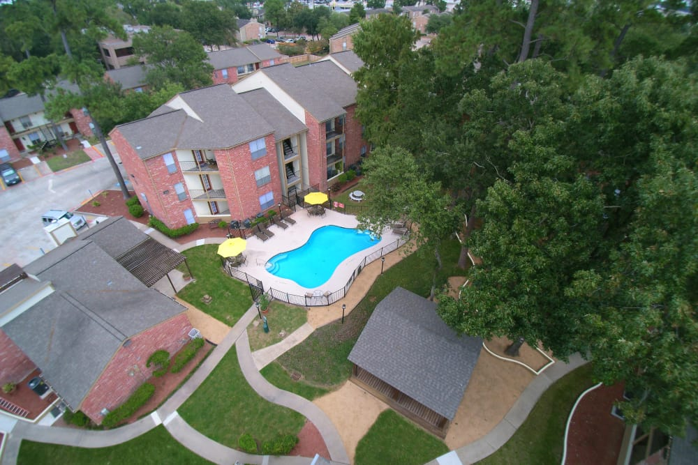 Aeieal view of Park at Deerbrook Apartments in Humble, TX