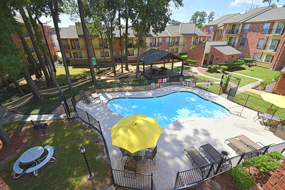 Swimming pool at Park at Deerbrook Apartments in Humble, Texas