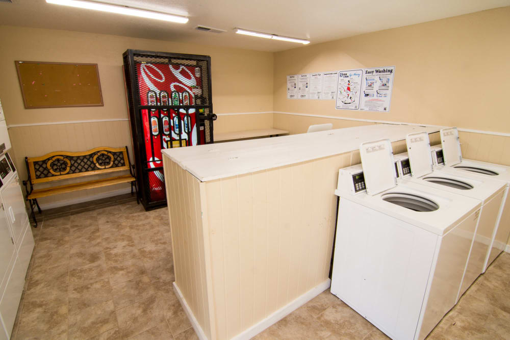 Spacious laundry facility at Bender Hollow Apartments in Humble, Texas