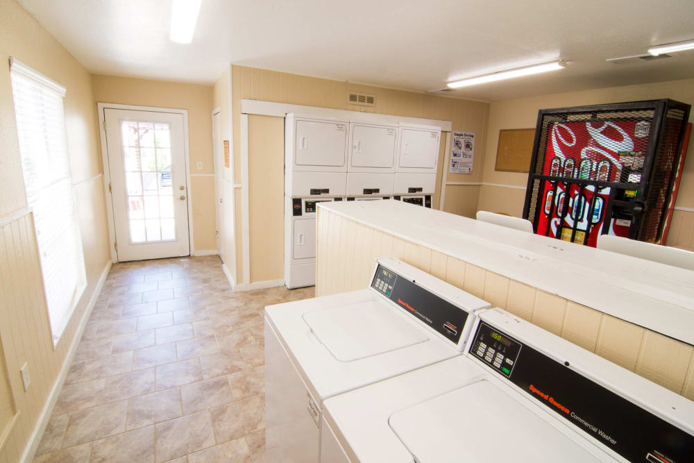Newly updated laundry facility at Bender Hollow Apartments in Humble, Texas
