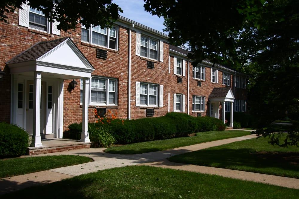 Walking paths around Jackson House Apartments