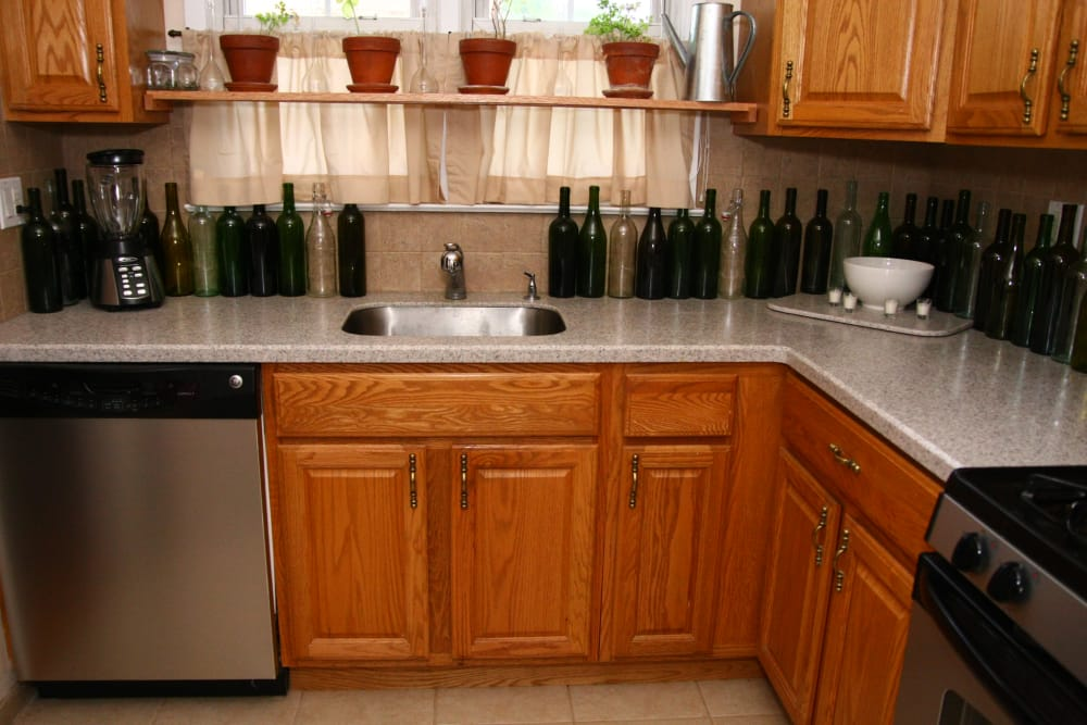 Ample counter space and cabinetry at Jackson House Apartments