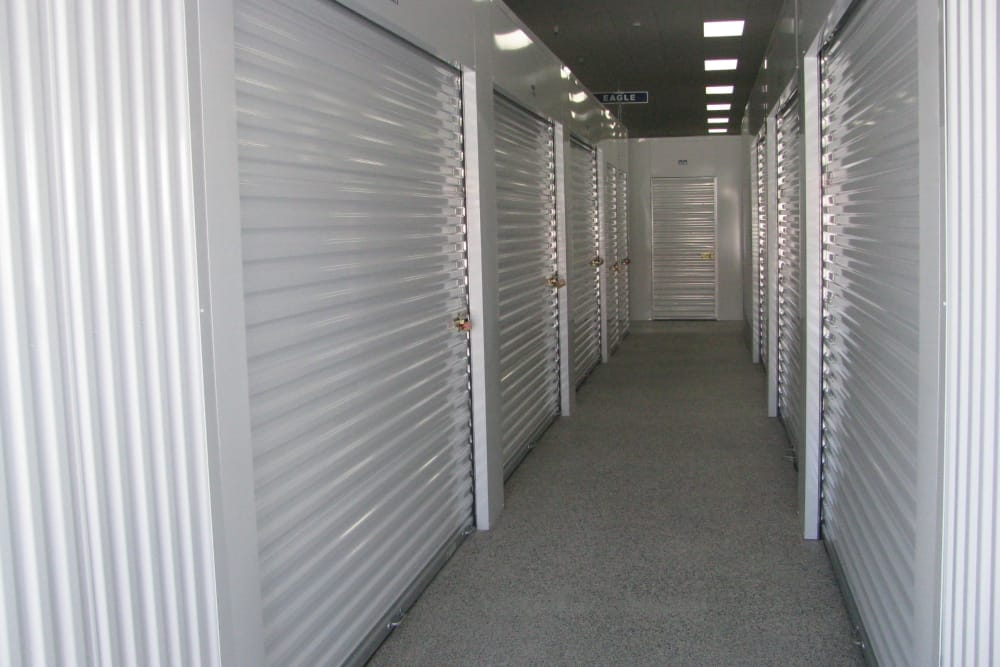 Climate controlled units at A Better Self Storage South Academy