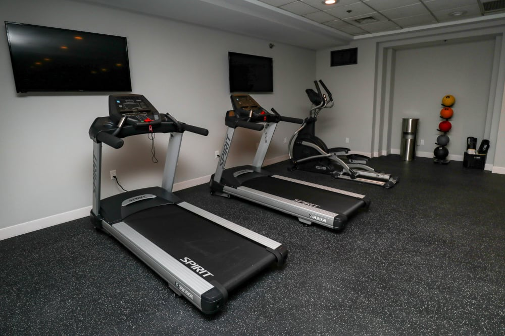 Cardio Equipment in Fitness Center at Creekview Court Apartments in Getzville, NY