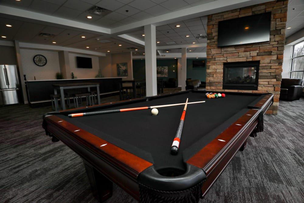 Clubroom with Pool Table at Creekview Court Apartments in Getzville, NY