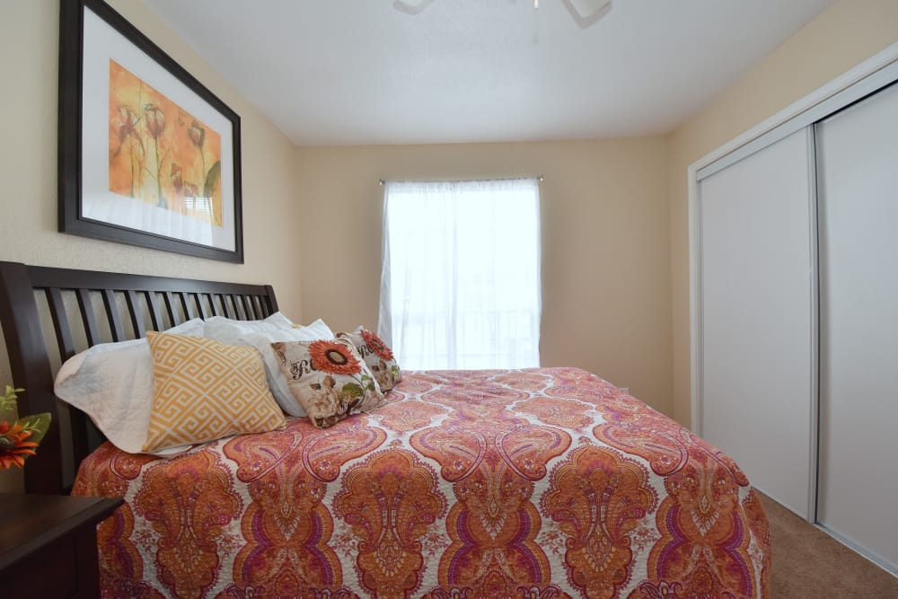Bedroom at Brookmore Hollow Apartments in Rosenberg, Texas