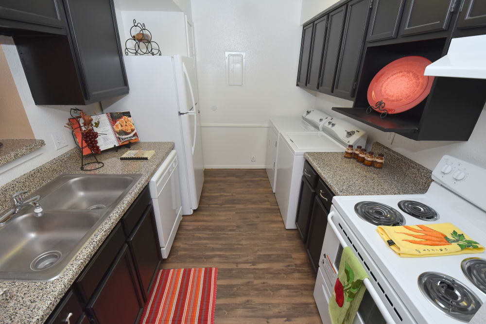 Modern kitchen at apartments in Humble, Texas