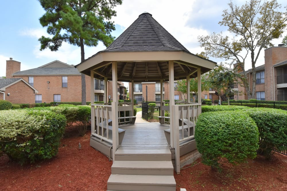 Deerbrook Garden Apartments featuring a pavilion in Humble, TX