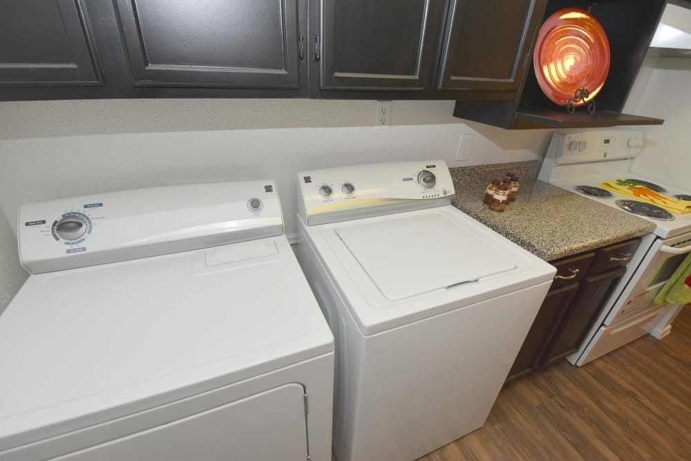 Laundry facility at Deerbrook Garden Apartments in Humble, Texas