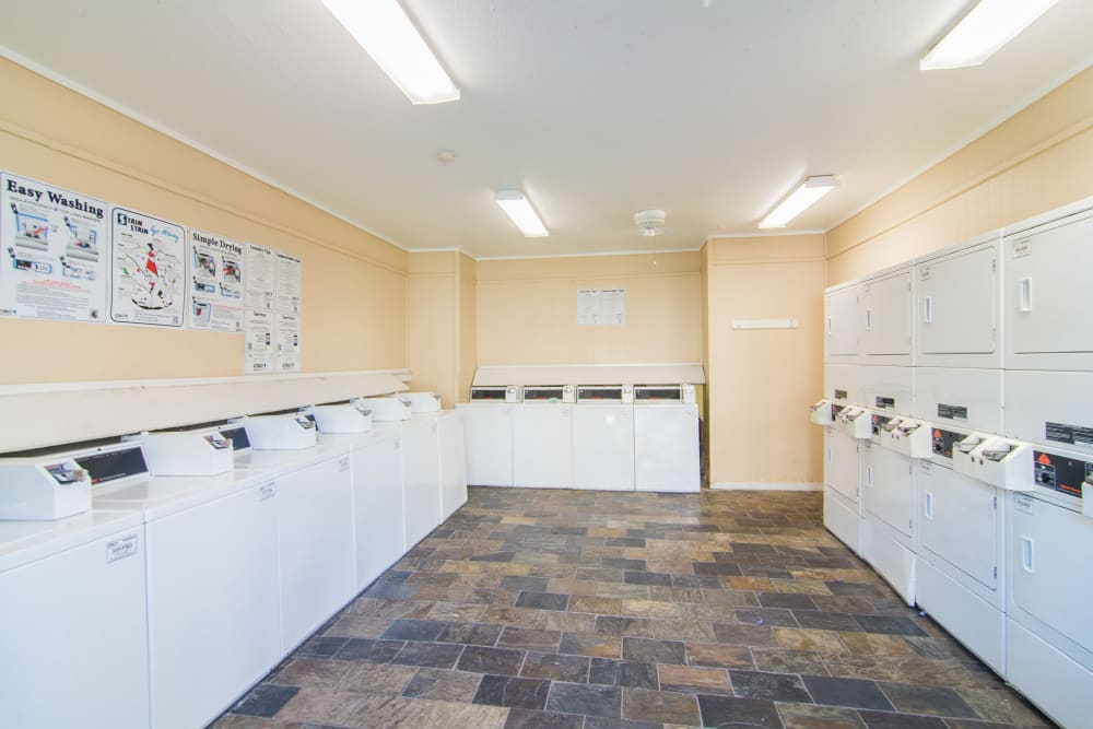 Renovated laundry facility at Northlake Manor Apartments in Humble, Texas