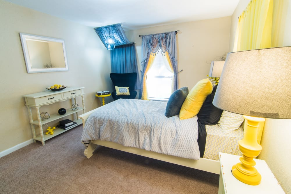 Apartments with a newly updated bedroom at Northlake Manor Apartments