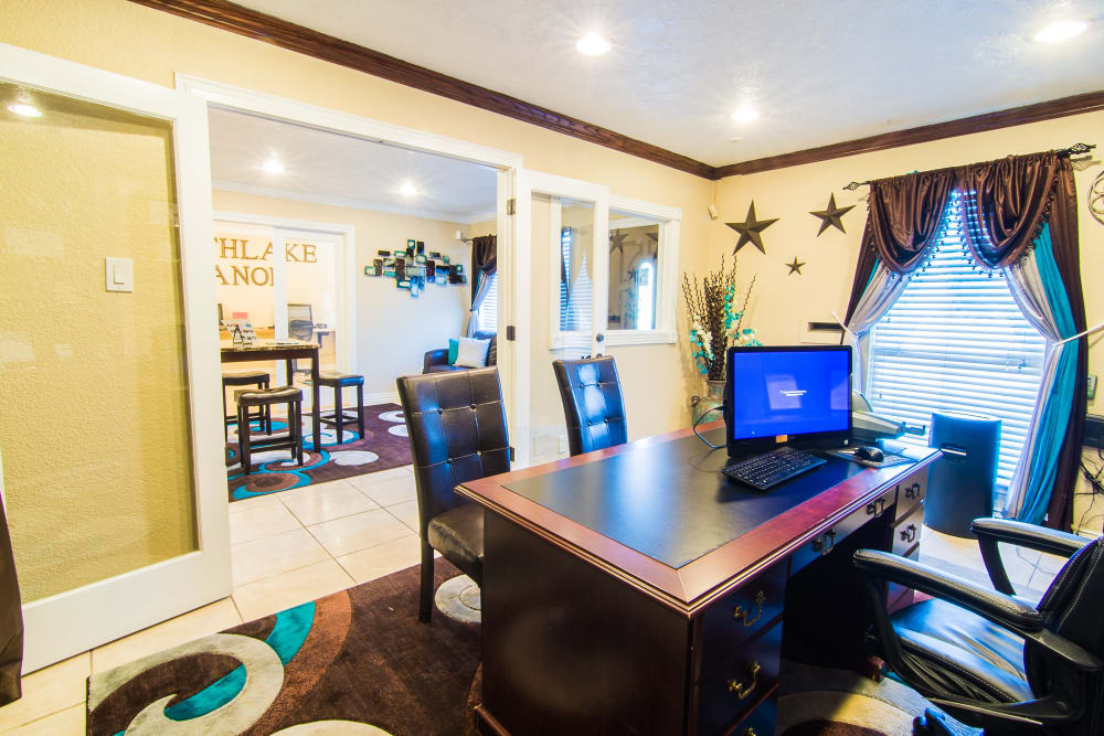 Modern office space at Northlake Manor Apartments in Humble, TX